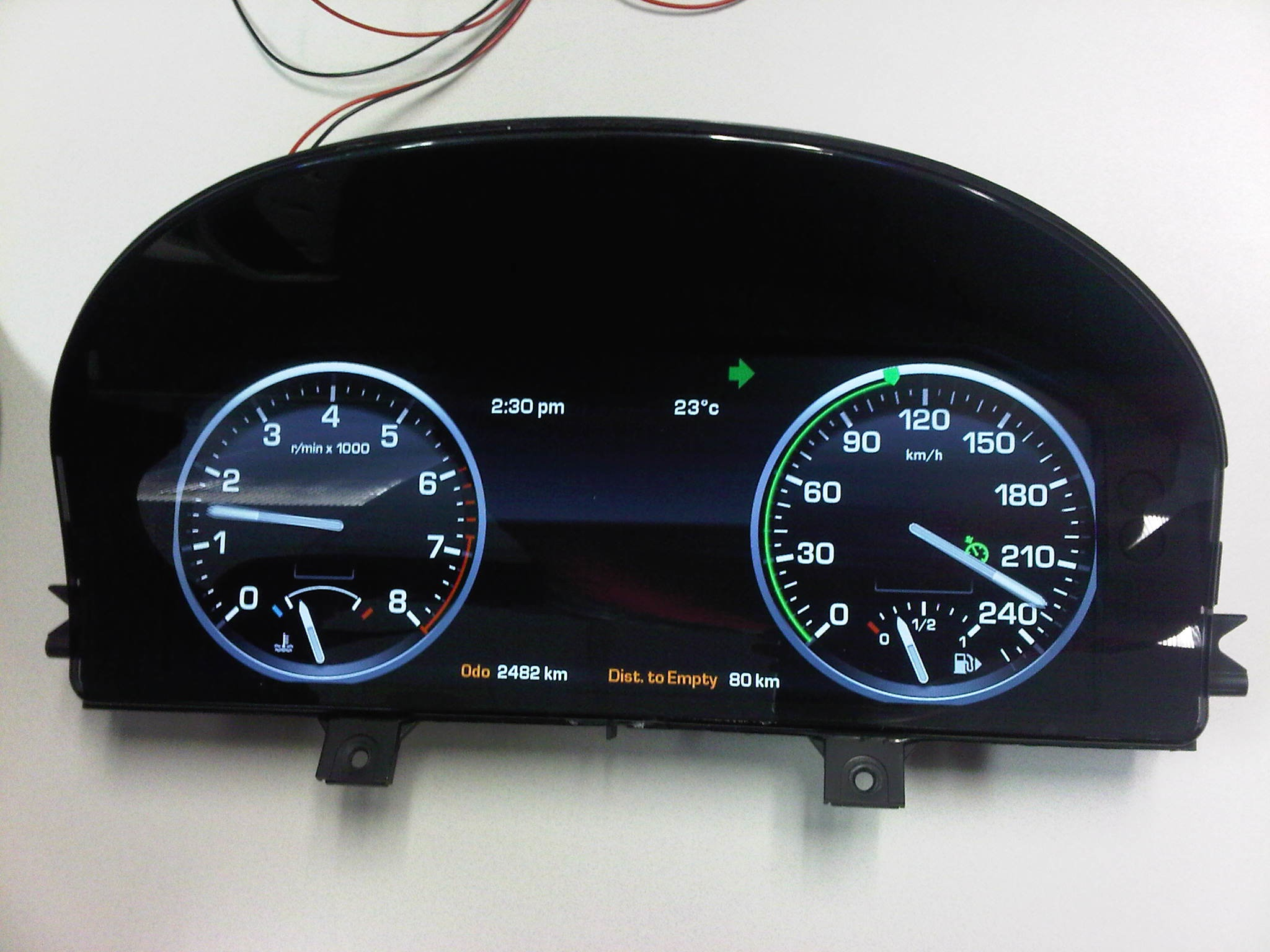 Electronic Gauge Cluster : Production digital instrument clusters tertiary matters